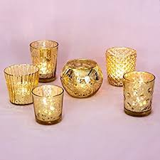 gold mercury candle holders. Simple Holders Luna Bazaar Best Of Show Vintage Mercury Glass Candle Holders Gold Set  6 Throughout Gold D