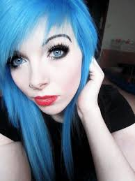 gothic hair styleakeup ira vira vire emo scene queen red lips make up black