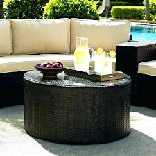 round wicker coffee table glass top wicker side table outdoor round wicker coffee table medium size