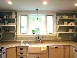 light above kitchen sink pendant light over sink medium size of pendant light over sink height