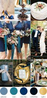 Autumn wedding colors with blue and teal color palette | Read more  #fallwedding on Fab