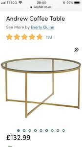 metal frame glass round coffee table