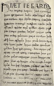 from old english to modern english openlearn university an example of old english text can be seen in the start of anglo saxon epic poem beowulf manuscript