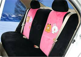 pink and black seat cover cony brown bear universal automobile plush velvet car seat cover sets