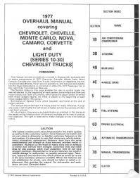 1977 chevrolet chevelle monte carlo nova corvette service manual 1977 chevrolet chevelle monte carlo nova corvette service manual pdf