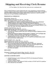 Shipping And Receiving Clerk Resume Sample Writing Tips Rc
