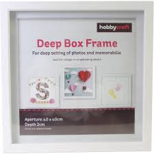 Box Picture Frame White Box Frame 40cm X 40cm