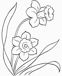 Flowers To Color For Kids Az Coloring Pages For Spring Flowers