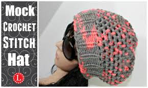 Loom Hat Patterns Magnificent LOOM KNIT HATS Slouchy Beanie Hat Mock Crochet Stitch Hat Made
