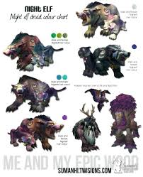 Troll Druid Color Chart Night Elf Druid Color Chart In 2019 World Of Warcraft Game