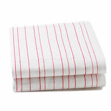painted stripe pink fitted crib sheet by little auggie
