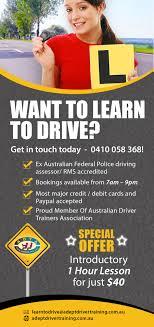 design an advertisement flyer for adept driver training lancer 31 for design an advertisement flyer for quot adept driver training quot