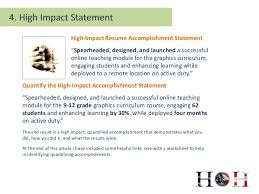 7. High-Impact Resume Accomplishment Statement Spearheaded ...