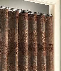 Perfect Brown Shower Curtains Patterned Intended Models Design