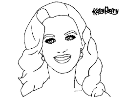 Katy Perry Coloring Page Funycoloring Coloring Pages For Girls At
