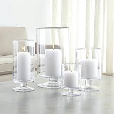 hurricane glass candles glass candle holder hurricane holders crate and barrel glass storm lanterns candles