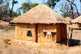 Image result for congolese thatched hut