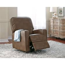 Sutton Chestnut Brown Leather Swivel Recliner Recliner - Swivel recliner chairs for living room 2