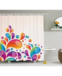 colorful shower curtains. Colorful Shower Curtain Abstract Raindrops Print For Bathroom Curtains