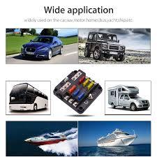 6 Way Blade Fuse Holder Box Block Case <b>12V</b>/<b>24V Car Truck</b> Boat ...