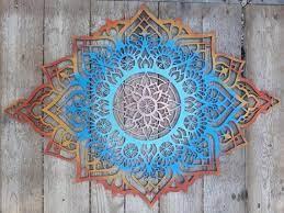 bohemian wall decor mandala art wood