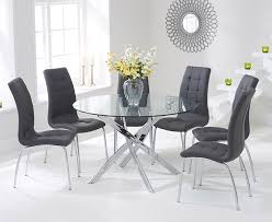 black glass round dining table and chairs 4375 impressive on glass round dining table set