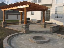 patio with fire pit and pergola. Fire Pit With Patio And Pergola Designs O
