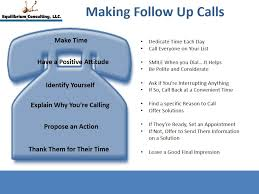 sales follow up do you follow some simple guidelines when making follow up calls