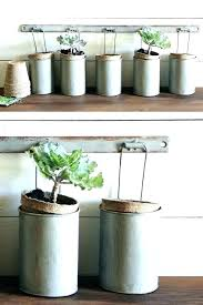 galvanized hanging bucket wall planter with 5 metal buckets galvanised basket tubs planters plant