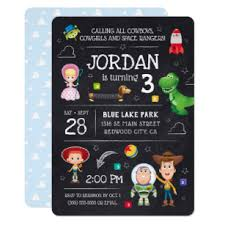 Toy Story Chalkboard Birthday Invitation