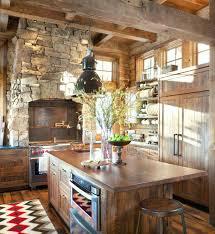 small cabin kitchen design ideas log decorating rustic