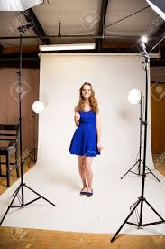 The Lighting Studio An Attractive Teen Poses For A Photo Indoors In A Lighting Studio