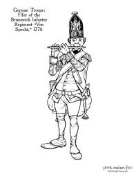 Choose from our diverse categories like cartoon coloring pages, disney coloring pages to animal coloring sheets, everything your kids want to colour you. Revolutionary War Solder Coloring Pages 11 Historic Uniforms Coloring Guides Print Color Fun