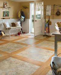 chic interior design with adura flooring matched with cream wall with white wainscoting ideas