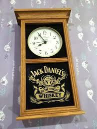 jack daniels wall clock jack old time whiskey distillery advertising wood wall clock works jack whiskey jack daniels wall clock
