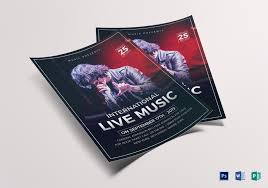 Concert Flyer Template For Word Live Music Concert Flyer Design Template In Word Psd Publisher
