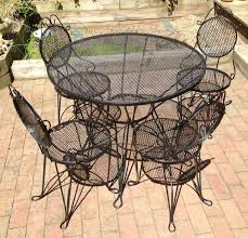 black wrought iron outdoor furniture. Best Black Wrought Iron Outdoor Furniture Chairs All Home Decorations Pict Of Vintage Table And Style Patio Set Trends D