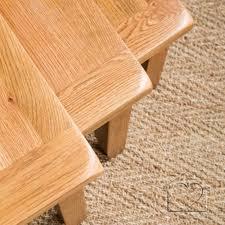 Listers Bedroom Furniture Heritage Rustic Oak Nest Of Tables Alb16900 A Fantastic Range