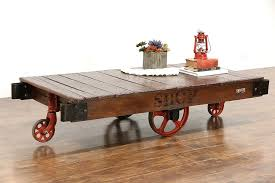 vintage factory furniture. Industrial Salvage 1930\u0027s Vintage Factory Cart, Trolley Or Coffee Table Furniture Y