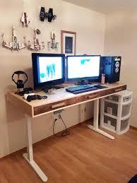 computer desk legs birch and walnut desk i lightly copied a design i saw on the