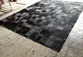 black fur patchwork cowhide area rug classic squares design no 2550 black cowhide rug cowhide patchwork rug area fur rug with 2386 94 piece on