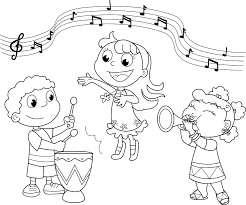 Music Coloring Pages Kids Playing Music Coloringstar