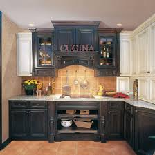 Inspiring Distressed Kitchen Cabinets In Home Decor Plan With Black