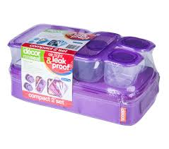Decor Lunch Boxes Realseal™Compact 600™ Lunch Set 60 Piece Decor 4