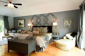 image of appealing wall mounted lighting for bedrooms with drum lamp shades alongside large square picture above bed lighting