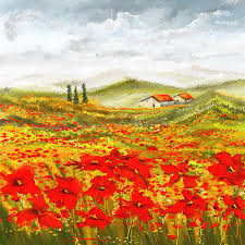 poppies painting field of dreams poppy field paintings by lourry legarde