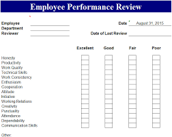 Employee Performance Review Template - My Excel Templates