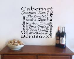 zoom on wine bar wall art with wine wall art wine decal wine names bar decal wine wall