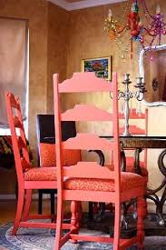 multi colored painted furniture. Colorful Dining Room...painted Chairs...gorgeous Multi-colored Glass Multi Colored Painted Furniture E