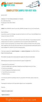 Cover Letter For Visa Samples And Writing Techniques 2017
